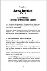 Secrets of Accessing Busy Physicians (Book Chapter)